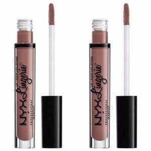 2-Pack NYX Bustier Lip Lingerie Liquid Lipsticks